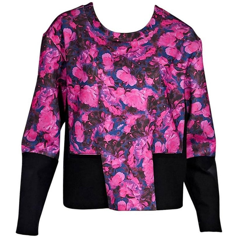 Multicolor Thakoon Addition Floral Neoprene Top