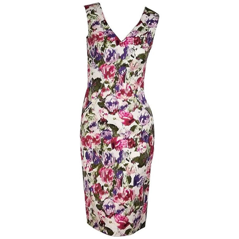 Multicolor Philosophy di Alberta Ferretti Floral Dress