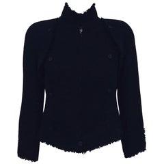 Chanel Black Tweed Vest/Jacket with Removable Bolero Jacket