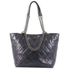 Chanel Shopping In Chains Tote Quilted Calfskin Large