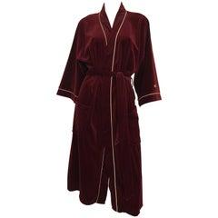 Vintage 1980's Pierre Cardin Velveteen Robe