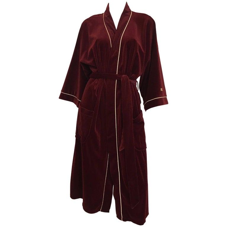 Pierre Cardin Vintage 1980's Velveteen Robe