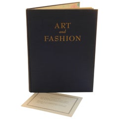 Art and Fashion by Marcel Vertes Fashion History Book Coffee Table Book 1944