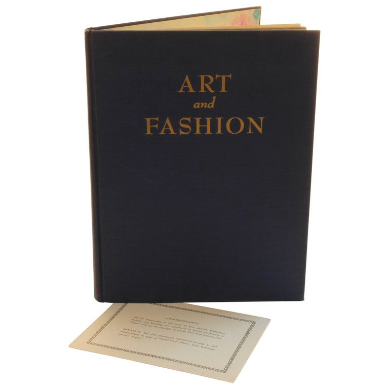 Art And Fashion By Marcel Vertes History Book Coffee Table 1944 For