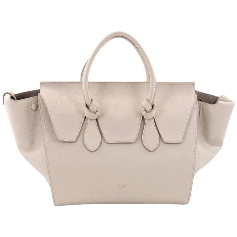 Celine Tie Knot Tote Grainy Leather Medium