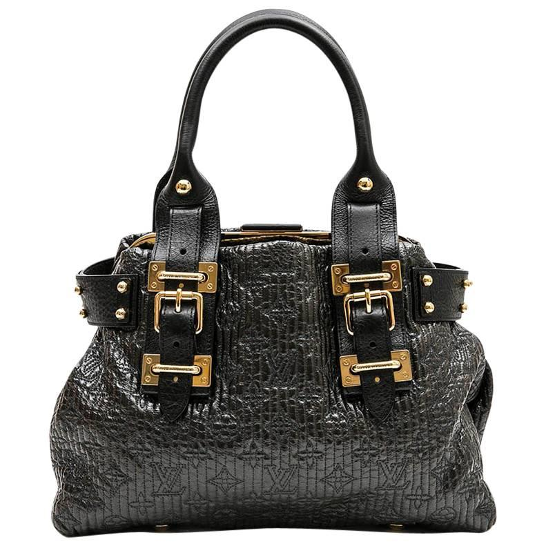 Louis Vuitton Bag In Black Leather And Brown Patent Leather Embroidered 6tqdW0Yg