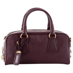 Prada Convertible Bauletto Bag Saffiano Leather East West