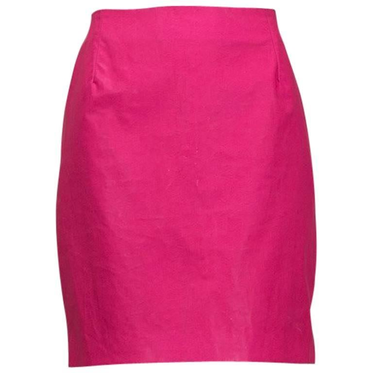 Versace Jeans Couture Faux Leather Mini Skirt, 1990s