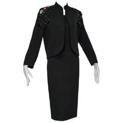 Emilio Schubert Fringe Epaulette Dress Suit, 1960s