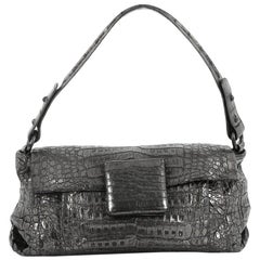 Nancy Gonzalez Flap Shoulder Bag Crocodile Small