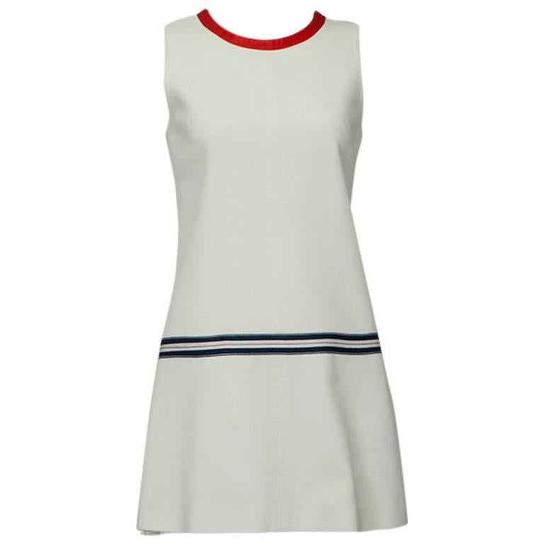 Dolce & Gabbana Mini Tennis Dress with Trailing Back Bow, 2005