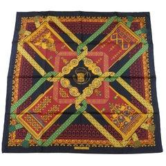 Hermès J. Abadie Vintage Scarf Brin d'Or Silk twill 90 cm, Circa 1982