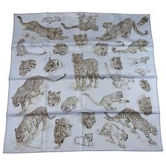 Hermès Scarf Dans l'atelier de Robert Dallet Silk twill 90 cm / Brand New
