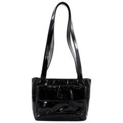 Chanel Vintage Front Pocket Shoulder Bag Patent Medium