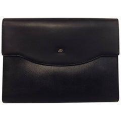 Men's S.T. Dupont of Paris Full Grain Leather Portfolio in Black