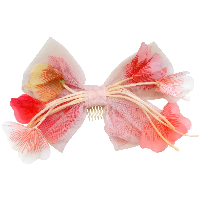 1960s J'Adore Miss Dior Floral Headpiece