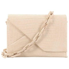 Nancy Gonzalez Origami Flap Bag Crocodile Small