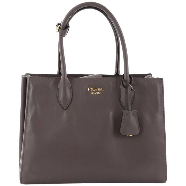 Prada Soft Bibliotheque Handbag City Calfskin Medium