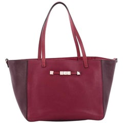 Valentino Rockstud Convertible Open Tote Leather Small
