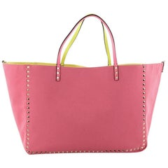 Valentino Rockstud Reversible Convertible Tote Leather Large