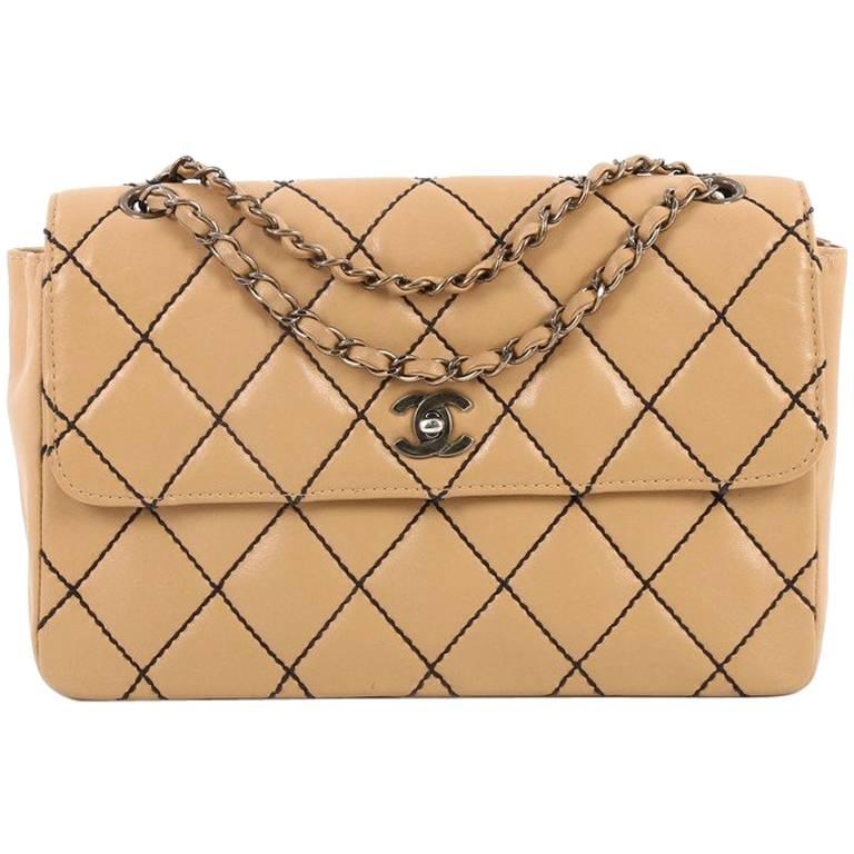 401af8679173 Chanel Surpique Flap Bag Quilted Leather Jumbo at 1stdibs