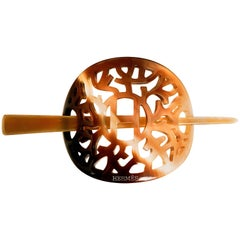 Hermes Horn Hair Pin and Needle / Accessory