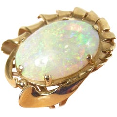 Gorgeous 18 Karat Gold 7 Carat Fire Opal Ring