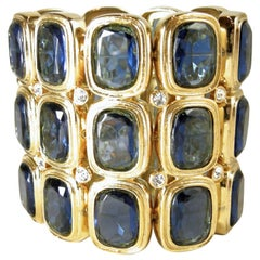 Kenneth Jay Lane Blue Rhinestone Stretch Bracelet