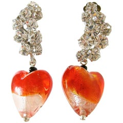 Robert Sorrell One-Of-A-Kind Heart Drop Earrings