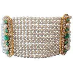 Carlo Zini Unique Faux Pearls Chocker