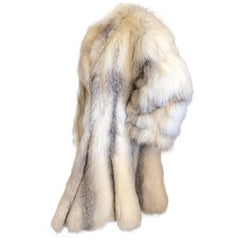 "Gianni Versace Furs Rare Arctic Fox Swing Coat with  110"" Sweep"