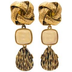 Outrageous Oscar de la Renta Resin Dangle Earrings