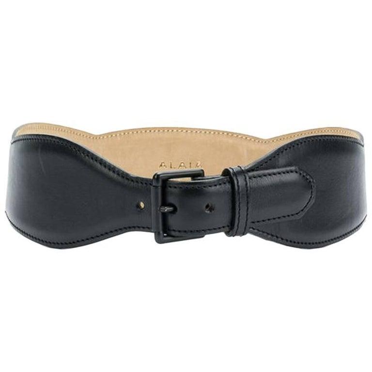 1998s Alaia Black Corset Belt For Sale