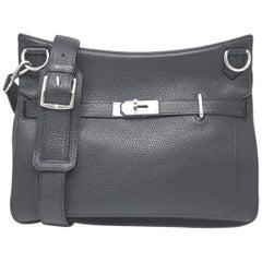 HERMES Noir Clemence Jypsiere 34 Handbag
