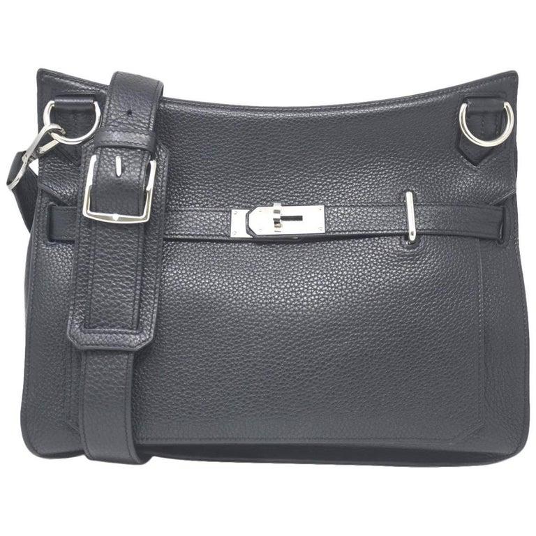 HERMES Noir Clemence Jypsiere 34 Handbag at 1stdibs 016e54964e