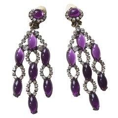60s Purple KJL Earrings