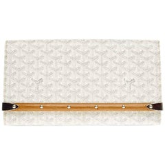Goyard Monogram Wood Logo Envelope Evening Clutch Bag