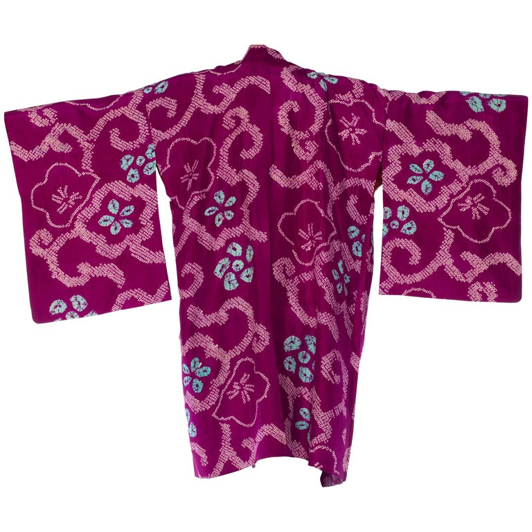 Japanese Shibori Kimono Jacket Vintage