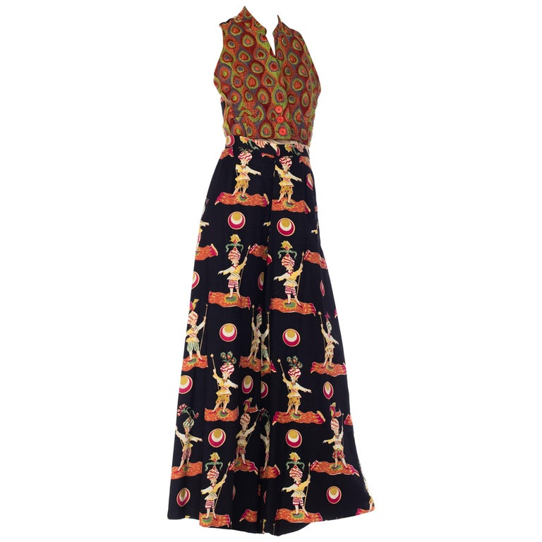 1990s Todd Oldham Embroidered Peacock Ensemble