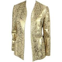 1980s Bill Blass Snakeskin Jacket New, Never worn
