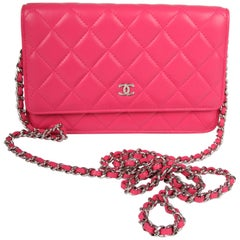 Chanel Wallet On Chain WOC Bag - pink