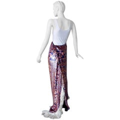 Maison Margiela Runway Tapestry Beaded Evening Skirt Gown   New!