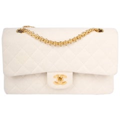 Chanel 2.55 Reissue Medium Double Flap Bag Jersey - ivory white 1996/1997