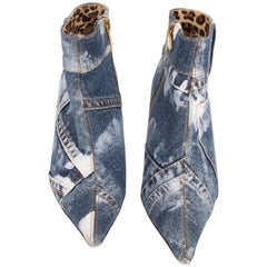 Dolce & Gabbana Denim Ankle Boots - blue