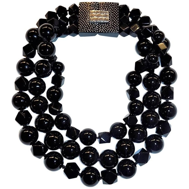 Patricia von Musulin Black onyx necklace  For Sale