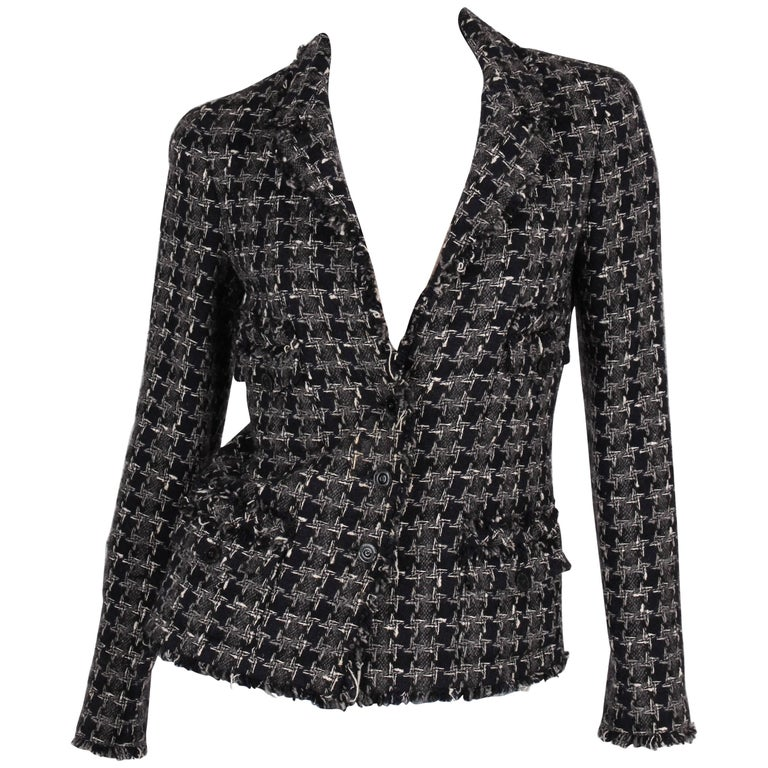 Chanel Boucle Jacket - blue/grey/white