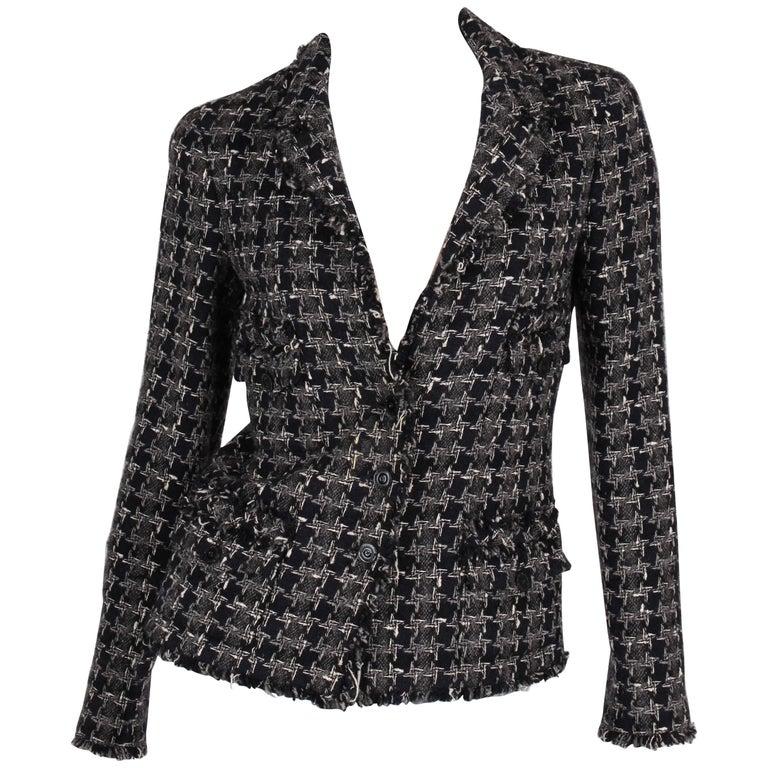 Chanel Boucle Jacket - blue/grey/white