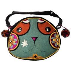 "Kenzo  whimsical embroidered Large shoulder  Bag  ""Panda"""
