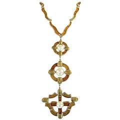 Fall 2007 Chanel Byzantine Cross Gripoix Pendant Necklace