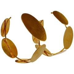 Herve van der Straeten Multi Petal Hoop Earrings